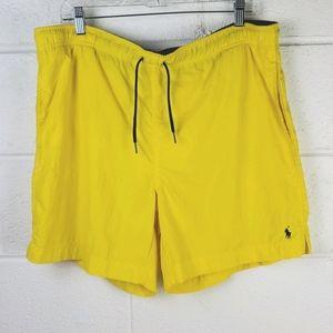 Yellow Polo by Ralph Lauren Swim Trunks M